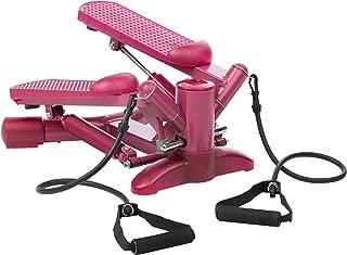 Ultrasport Lady Stepper Ministepper con cintas de entrenamiento y resistencia regulable, máquina de ejercicios para glúteos y piernas, incl. consola con muchas funciones