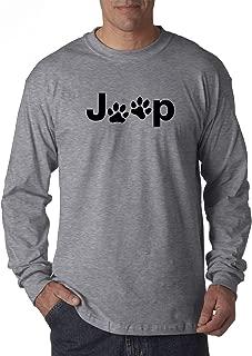 New Way 1172 - Unisex Long-Sleeve T-Shirt Jeep Dog Paws Logo