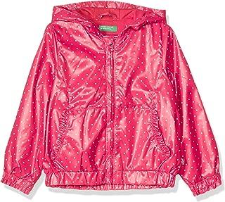 United Colors of Benetton Penye Astarlı Desenli Yağmurluk Kız çocuk Yağmurluk