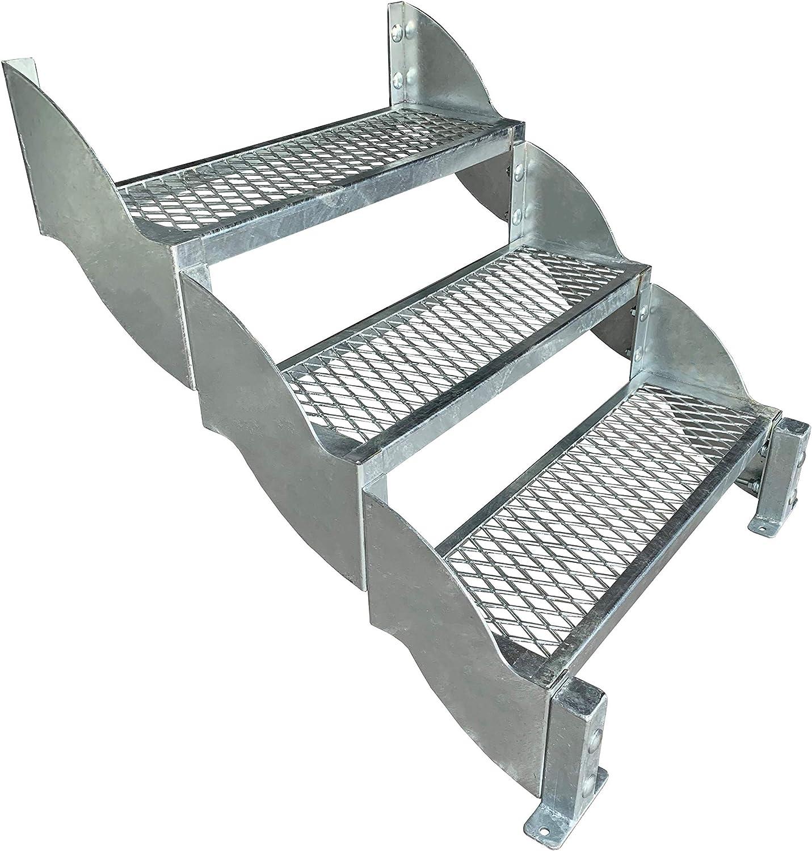 Wangentreppe feuerverzinkt Zusatzstufe für Außentreppe SCATO 800