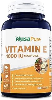 organic vitamin e oil capsules