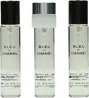 CHANEL BLEU DE CHANEL Eau De Toilette vaporizador refill 3x 20 ml