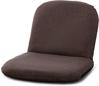 座椅子 かわいい 持ち運び便利 コンパクト省スペース 8段階リクライニング【日本KOYOギア】 幅40奥行34高さ32厚み6CM【小柄な方向け】ブラウン JPCZMN001-C26