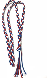 neck rope horse tack bridleless riding red whtie and blue neck rope