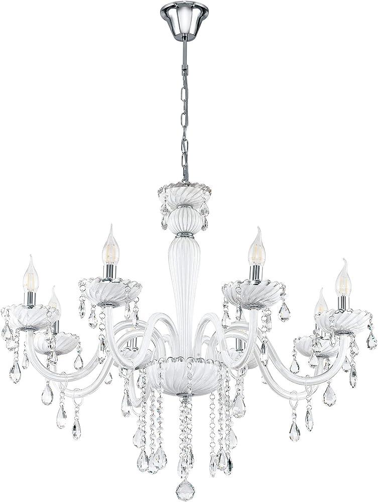 Eglo carpento - lampadario a sospensione a 8 luci, stile vintage 39114