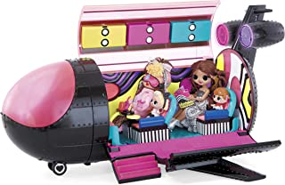 LOL Surprise OMG Remix 4-in-1 Plane Playset Transforms - Dreamplane Music Playset - My Carry Along Airplane Playset Kids C...