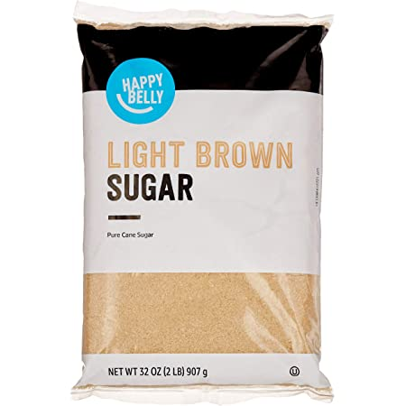 Amazon Brand - Happy Belly Light Brown Sugar, 2lb