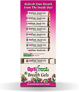 NaturesPlus Herbal Actives Optifresh Breath Gels 12 Pack - 50 Softgels - Maximum Potency Natural Bad Breath Remedy, Herbal Halitosis Relief - With Peppermint - Gluten-Free - 300 Total Servings
