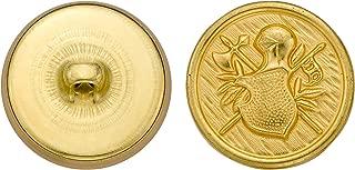 Size 24 Ligne Antique Gold 72-Pack C/&C Metal Products Corp C/&C Metal Products 5293 Crest Metal Button