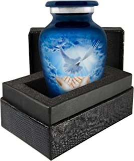 Trupoint Memorials Peaceful Dove Small Keepsake Urn for Human Ashes - Qnty 1 - A Beautiful Warm and Lovely Small Sharing K...