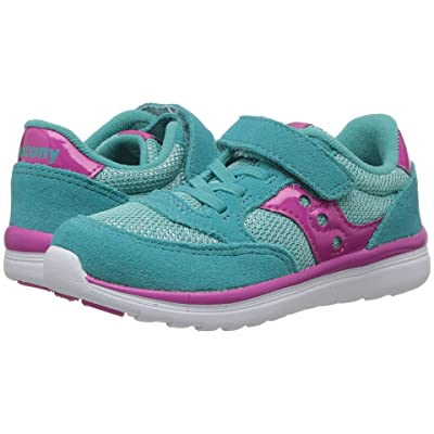 Saucony Kids Originals Jazz Lite (Toddler/Little Kid) (Turquoise/Sparkle) Girls Shoes