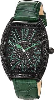 Christian Van Sant Women's Elegant Quartz Leather Strap, Green, 16 Casual Watch (Model: CV4825)