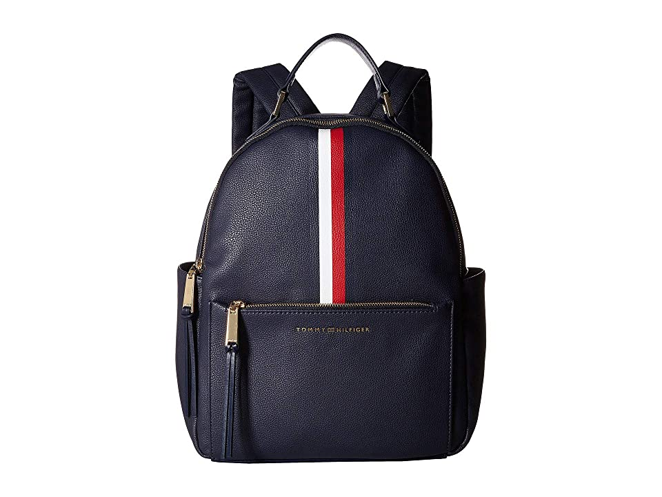 Tommy Hilfiger Althea Pebble PVC Backpack (Tommy Navy) Backpack Bags