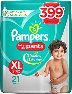 Pampers New X-Large Size Diapers Pants, 21 Count