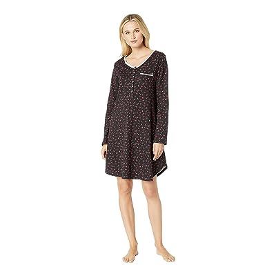 Eileen West Jersey Short Nightshirt (Holly Berries) Women