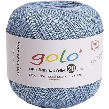 crochet thread size 20 dark green color
