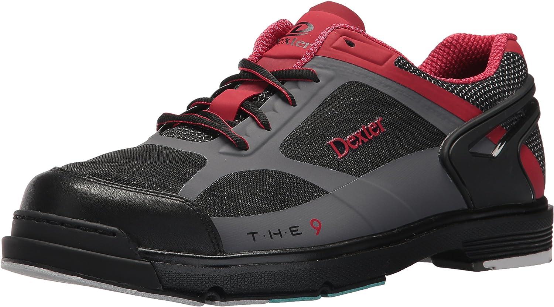 Dexter Herren SST die 9HT Bowling schuhe- schwarz rot grau