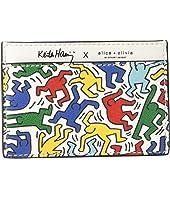 Alice + Olivia - Keith Haring X Alice + Olivia Elle Printed Card Case