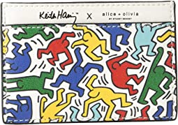 Keith Haring X Alice + Olivia Elle Printed Card Case
