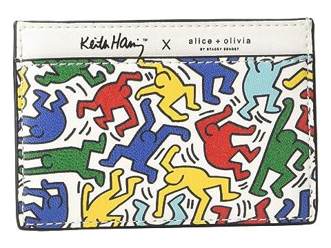 Alice + Olivia Keith Haring X Alice + Olivia Elle Printed Card Case