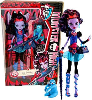 "Mattel Year 2013 Monster High Diary Series 11 Inch Doll Set - JANE BOOLITTLE ""Daughter of Doctor Boolittle"" with Purse, Pet Needles ""Voodoo Sloth"", Hairbrush, Walking Stick, Diary and Doll Stand"