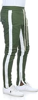 Men's Dual Stripe Ankle Zip Stretch Twill Track Pants