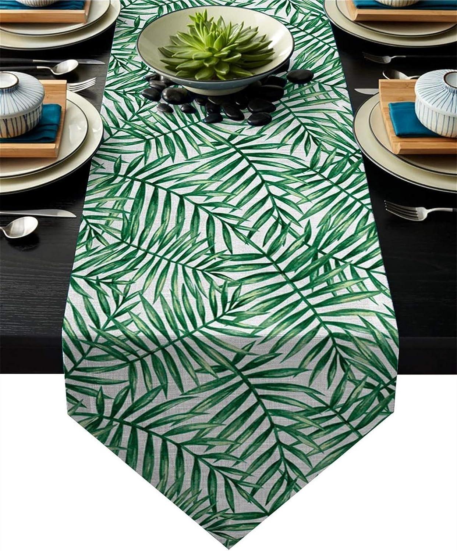 WUCHENG Green Plants Table Runner Modern Buffet Kitch Restaurant Branded goods Max 43% OFF
