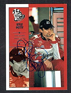 Kyle Petty #28 signed autograph auto 2002 Press Pass NASCAR Trading Card