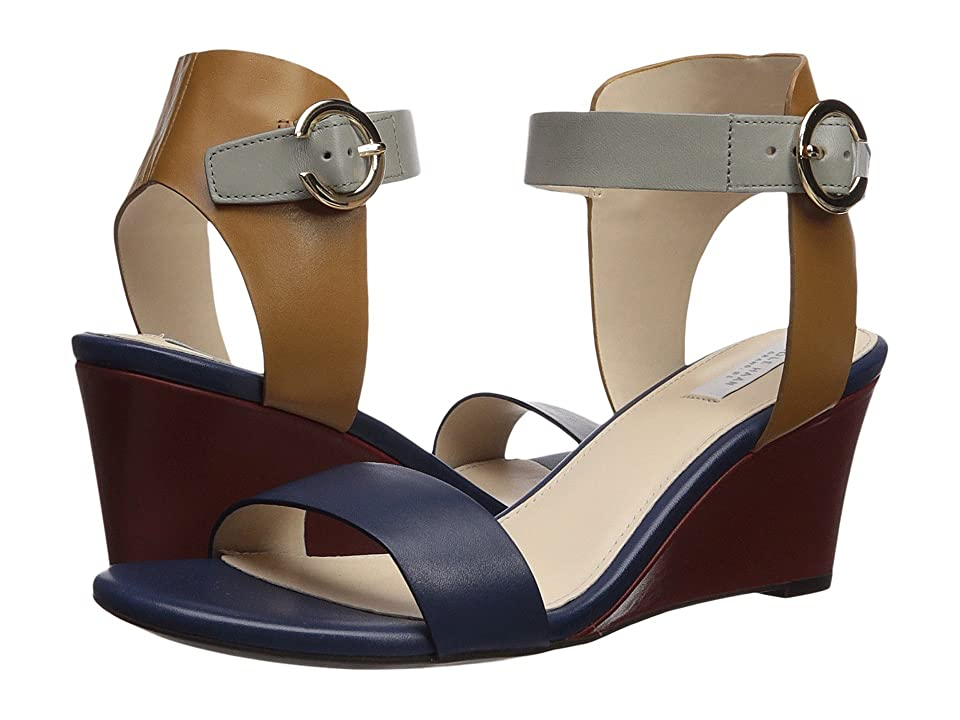 Cole Haan Rosalind Wedge Sandal (Marine Blue/Rock Ridge/Cathay Spice/Fire Brick Leather) Women