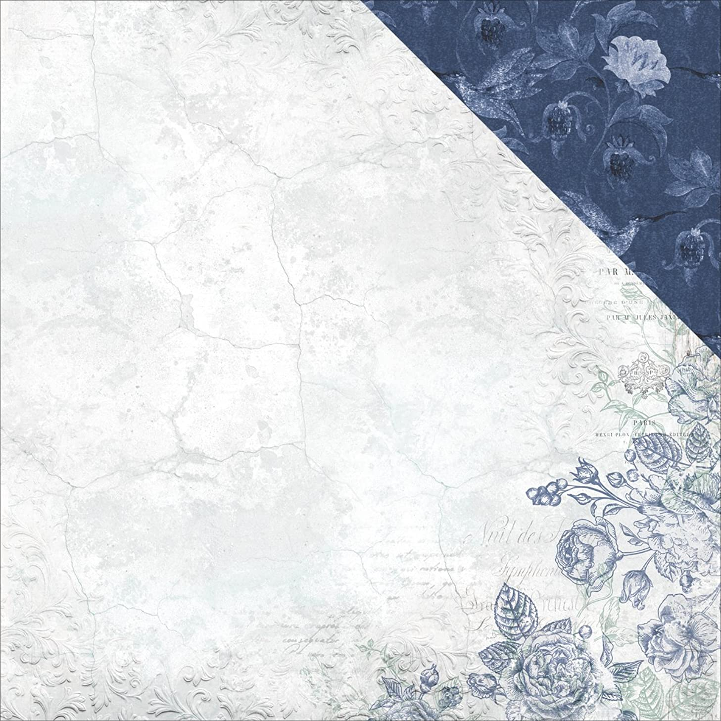 Kaisercraft Plaster Rose Wandering Ivy Double-Sided Cardstock 12