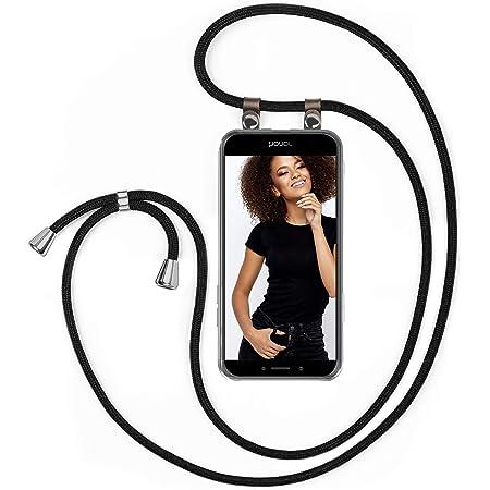 Moex Handykette Für Huawei Honor 6x Handyband Hülle Mit Band Zum Umhängen Kordel Handyhülle Mit Kette Necklace Silikon Case Handykordel Umhängehülle Handy Schutzhülle Schwarz Elektronik