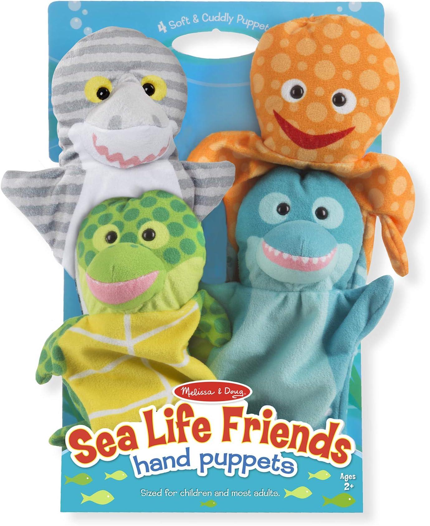 Melissa & Doug Sea Life Friends Hand Puppets