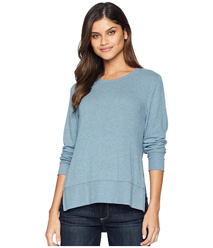 ALO Glimpse Long Sleeve Top (Concrete Heather) Women