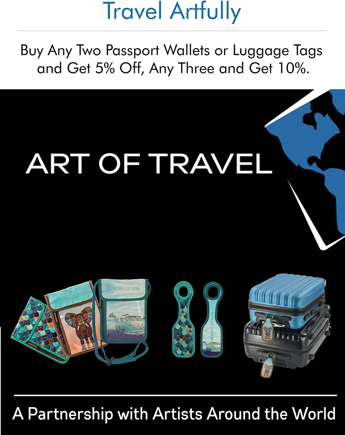   Neoprene Designer Luggage Tags by ART OF TRAVEL - Birches   Luggage Tags