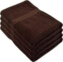 Fresh From Loom 450 GSM Cotton Bath Towel (Coffee, 27 x 54 Inch) - 4pc Set