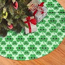Antonia Bellamy Happy Shamrock Christmas Tree Skirts 48
