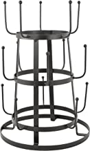 MyGift Vintage Rustic Gray Iron Mug/Cup/Glass Bottle Organizer Tree Drying Rack Stand