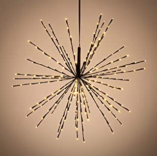 Elf Logic - Starflower - Hanging Star Lights - 34 Inch Firework Light - Fun and Unique Outdoor Holiday Lights - Over 200 LED Bulbs - No Assembly Required.