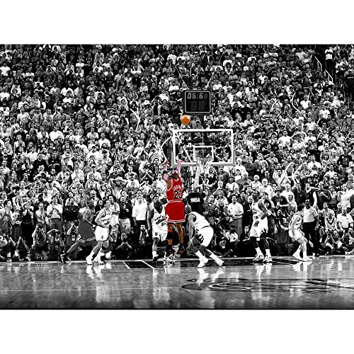 free shipping 2d48b 3aa5e BPAGO Michael Jordan Sports Poster Print Poster Old Photo Large Wall Art  Canvas Paintings Office Decoration