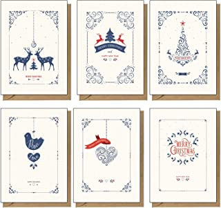 48 Recycled, Eco Friendly, Contemporary Christmas Cards