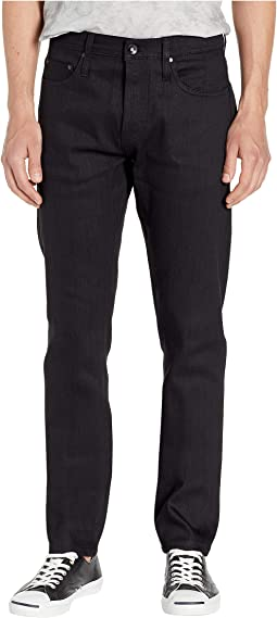 Tapered in 11 oz Solid Black Stretch Selvedge