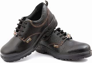 Hillson Jackpot ISI Marked Safety Shoes, Black, Size 7