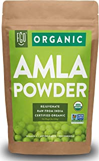 Organic Amla Powder (Amalaki) | 8oz Resealable Kraft Bag | 100% Raw from India | by FGO