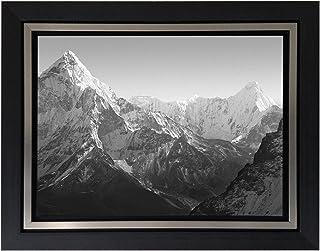 Jplo9|#Jp London BWFCNV2356 1.5 Inch Thick Black & White Gunmetal Double Framed Canvas Mt Everest Mountain Peak Summit at ...