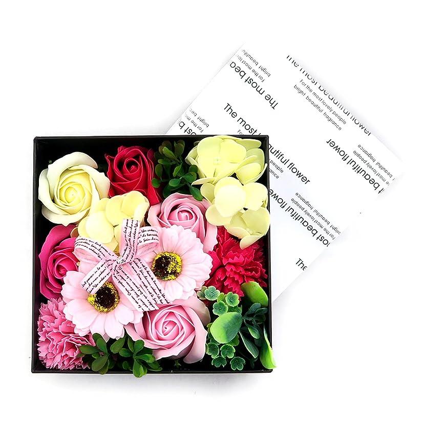 編集者スタック交じる花のカタチの入浴料!フラワーフレグランスボックス プリントボックス