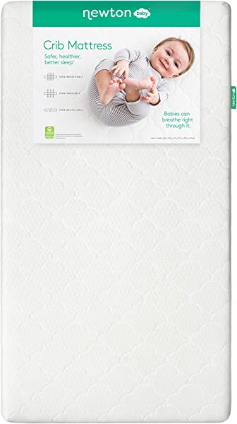 Newton Baby Crib Mattress And Toddler Bed 100 Breathable Proven To Reduce Suffocation Risk 100 Washable Hypoallergenic Non Toxic Better Than Organic White
