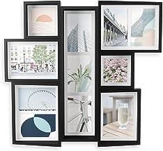 شاشة حائط متعددة Umbra EDGE - إطار ملصقة للصور العائلية وصور وطباعات العطلات، أسود