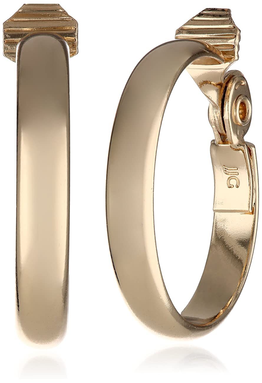 Anne Klein Classics Gold-Tone Wide Hoop Clip-On Earrings