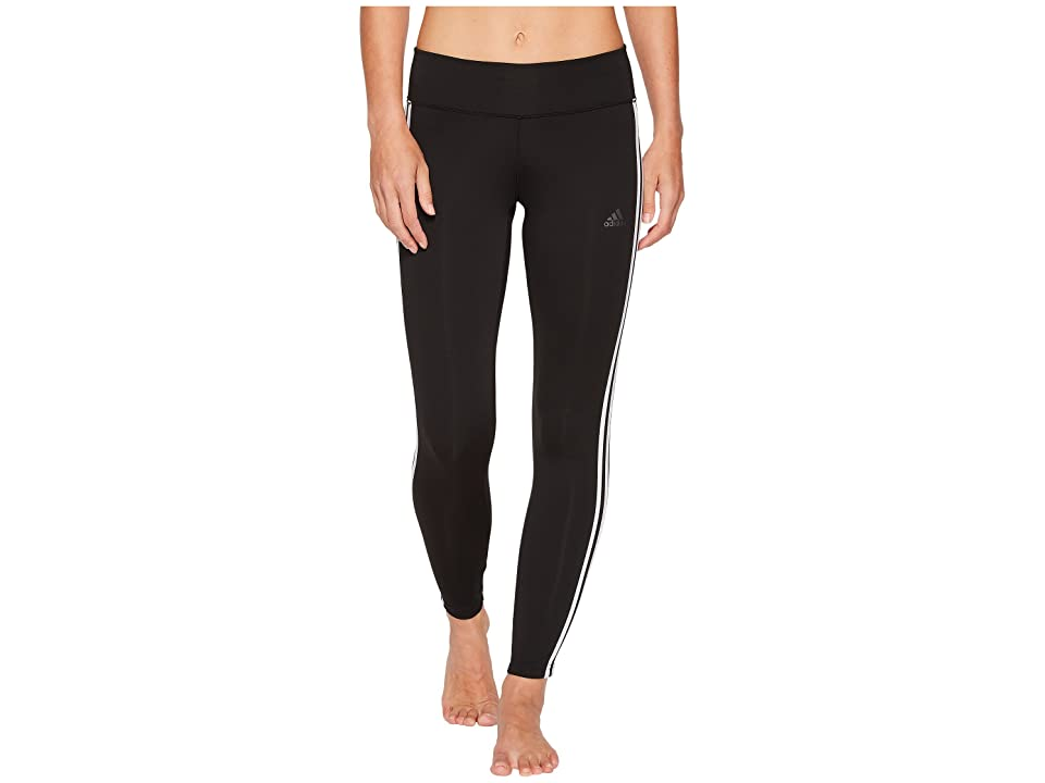 adidas Designed-to-Move 3-Stripe Long Tights (Black/White) Women
