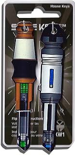 2 Blue and Green Sonic Locker Screw Driver Shaped Space Keys Kwikset KW1 KW10